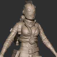 steampunk rocketteer 3d model