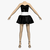 dress lush female mannequin 3d max