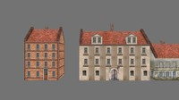 buildings polys 3d x