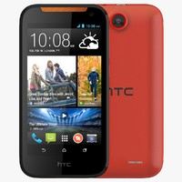 3d model of htc desire 310 orange