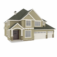 3d model american house 2