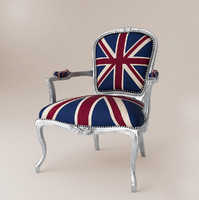 3d model unionjack armchair