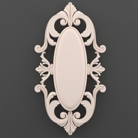 3d model of ornament decor wall