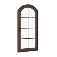 3d model window brown metal