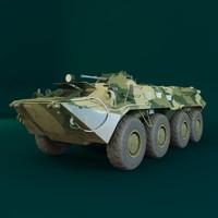 3d model btr 80 tank military