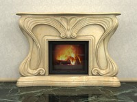 3d fireplace 53 - model