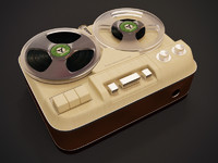 retro magnetophone 60i 3ds
