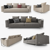 busnelli burton sofa design 3d ma