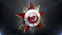 3d medal patriotic war model