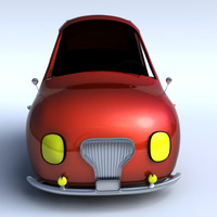 cartoon car 3d ma
