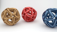 3ds max interlinked star ball isocahedron