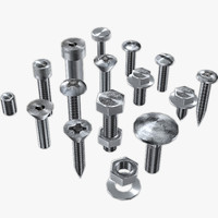 screws hardware 3d model