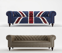 3d model unionjack 3-seaters sofa