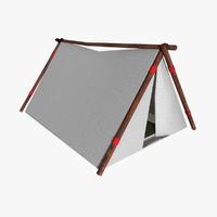 3d model of tent