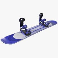 snowboard 5 3d model
