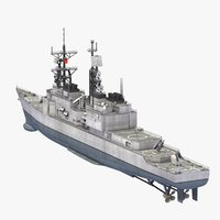 3d model rocs tso ying destroyer