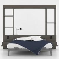 modern interior bed lamp 3d max