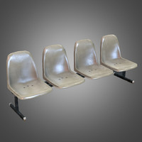 laundromat bench chairs obj