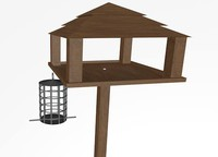 bird feeder 3d dxf