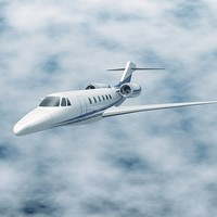 3d model jet cessna citation