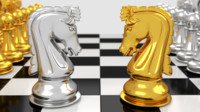 pawns chess board 3d 3ds