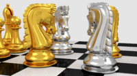 3dsmax pawns chess board