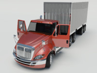 International Prostar Daycab RIGGED WITH TRAILER