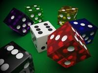 casino dice 3d model