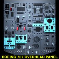 boeing 737 overhead panel obj