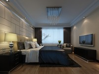bedroom bed 3d max