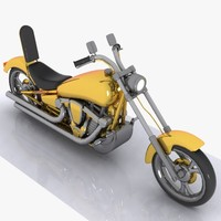 toon motorcycle motor 3d 3ds