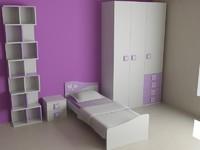 3d sofa shelf bookshelf