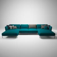 3d rolf benz sofa model