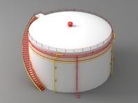 3d oil tank model