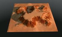 desert terrain obj