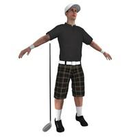 3d golf golfer
