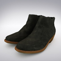 Women's Ankle Boot Black Suede - 3D Scanned
