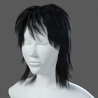 realistical hair 3d model