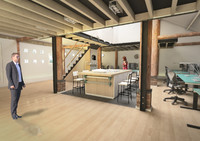 3d barn interior office
