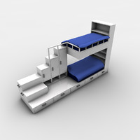 beds cupboards 3d model