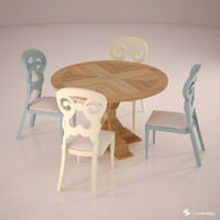 dinner set 3d model