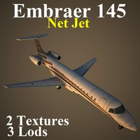 3d model of embraer nej