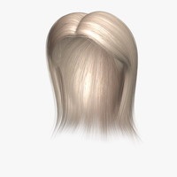 3d model barbara hair human character
