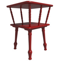 3d red bedside table