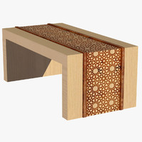 Wooden Arabesque Table