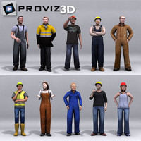 3D People: Workers People Vol. 02