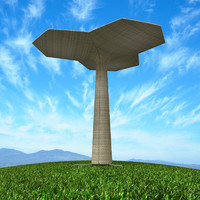 Palm parasol furniture garden with grass