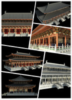 3d chinese classical temple model