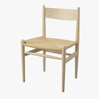 chair hans j wegner 3d model