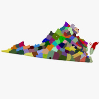 counties virginia 3d obj